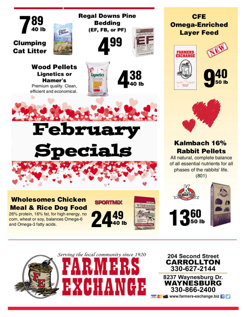 February Special Farmers Exchange