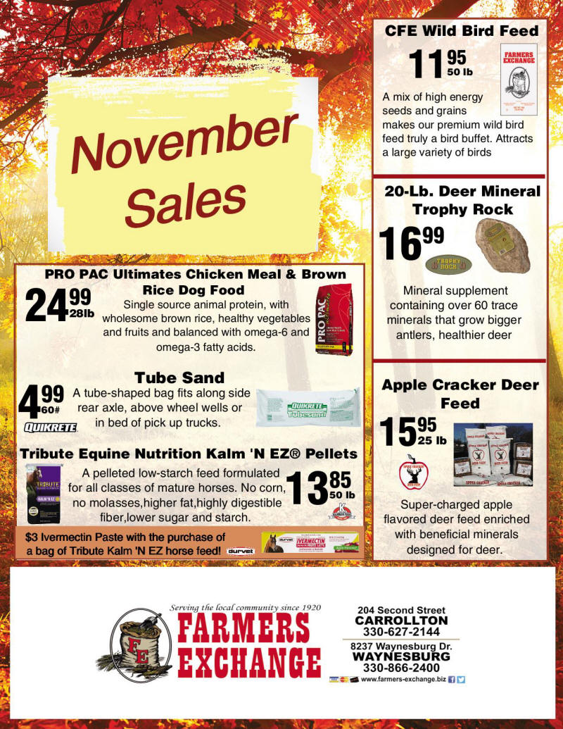 NOvember Special Farmers Exchange