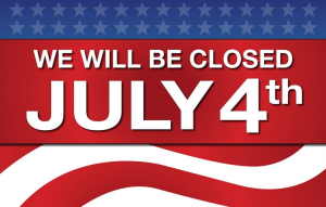 Farmers Exchange closed 4th of July